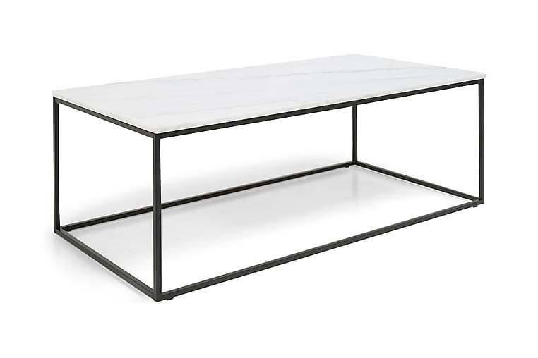 Soffbord Titania 120 cm Marmor - Vit Svart - Möbler - Bord - Soffbord