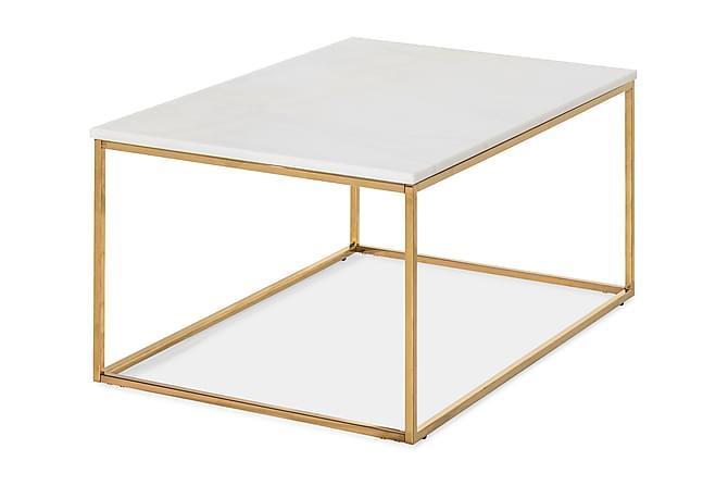 Soffbord Titania 90 cm - Vit|Mässing - Möbler - Bord - Soffbord