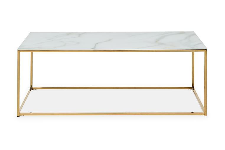 Soffbord Valeria 120 cm - Marmorglas|Mässing - Möbler - Bord - Soffbord