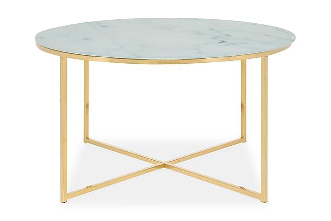 Soffbord Valeria 80 cm Runt - Marmorglas|Mässing - Möbler - Bord - Soffbord
