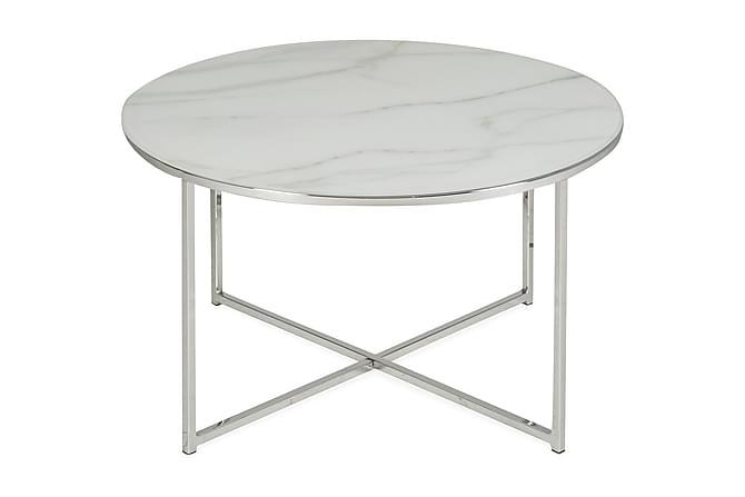 Soffbord Valeria 80 cm Runt - Marmorglas Metall - Möbler - Bord - Soffbord