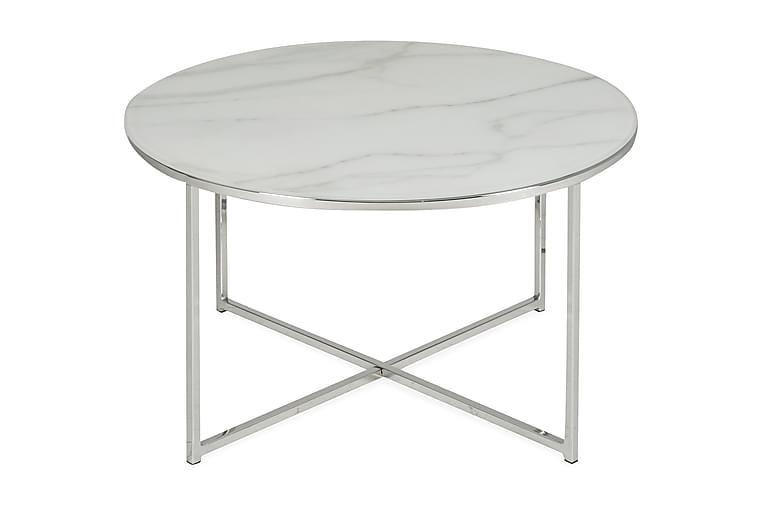 Soffbord Valeria 80 cm Runt - Marmorglas/Metall - Möbler - Bord - Soffbord