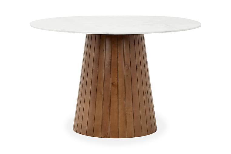 Bord Dunja Vit/Valnöt - 120 cm - Möbler - Bord - Matbord & köksbord