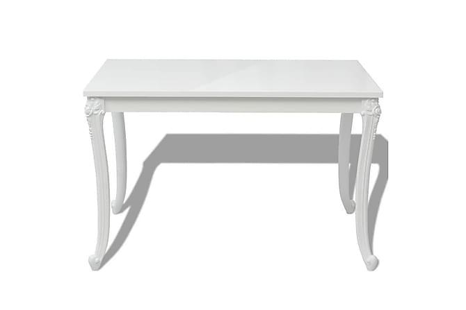 Matbord 116x66x76 cm vit högglans - Vit - Möbler - Bord - Matbord & köksbord