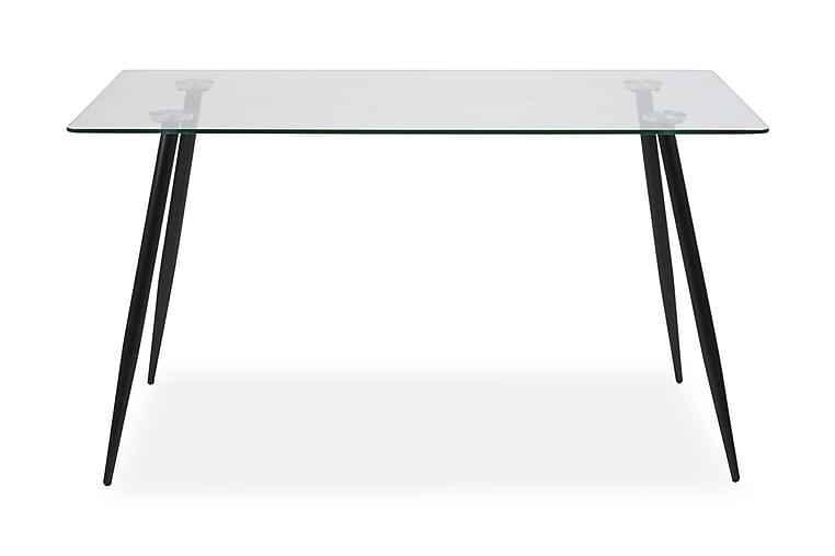 Matbord Angelo 140 cm - Glas|Svart - Möbler - Bord - Matbord & köksbord