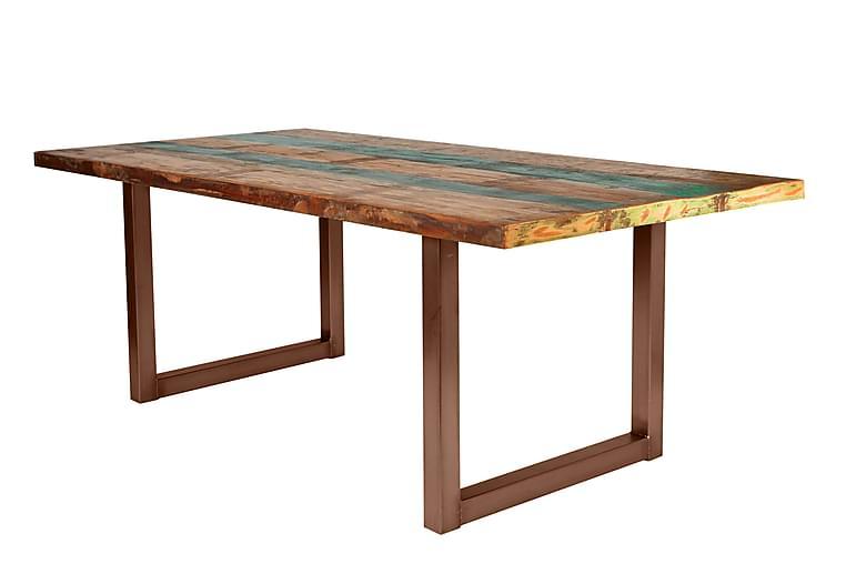 Matbord Arhunda - Röd/Brun - Möbler - Bord - Matbord & köksbord