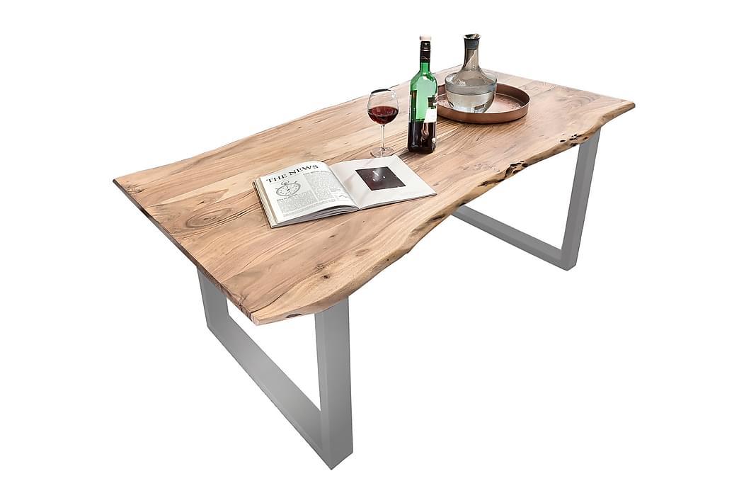 Matbord Arhunda - Trä/Natur/Röd/Silver - Möbler - Bord - Matbord & köksbord