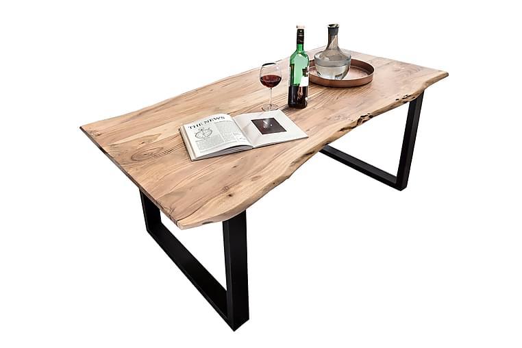 Matbord Arhunda - Trä/Natur/Röd/Svart - Möbler - Bord - Matbord & köksbord