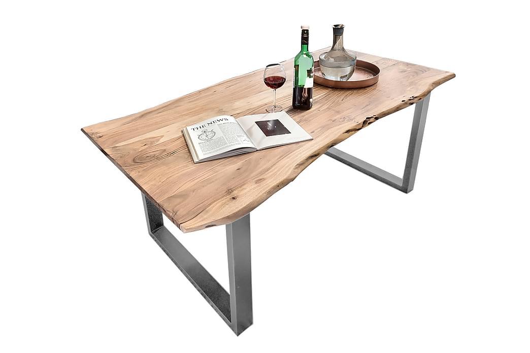 Matbord Arhunda - Trä/Natur/Silver - Möbler - Bord - Matbord & köksbord