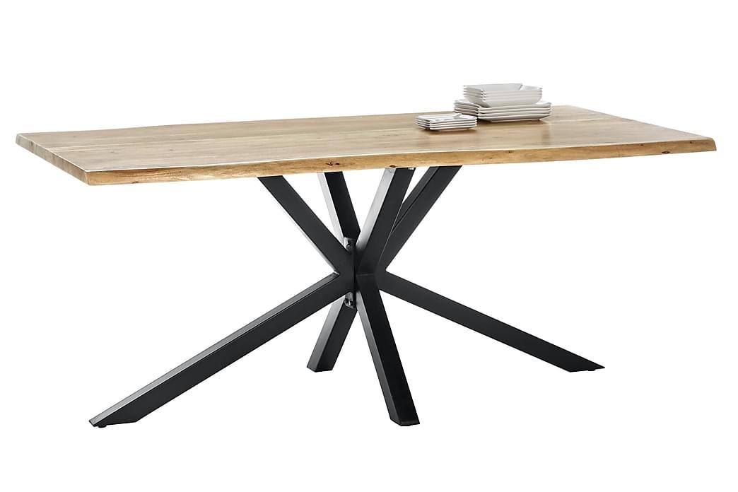 Matbord Arhunda - Trä/Natur/Svart - Möbler - Bord - Matbord & köksbord