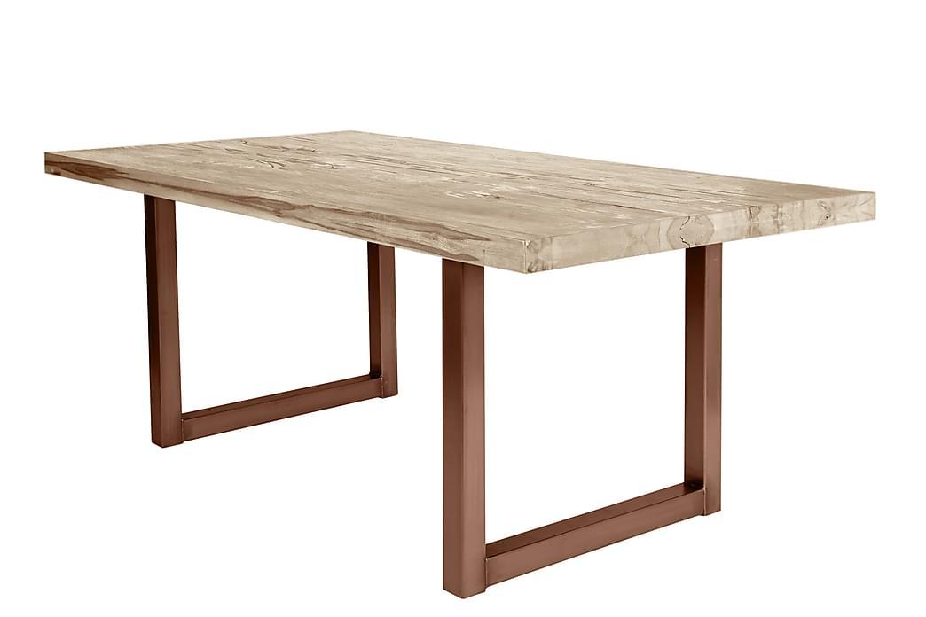 Matbord Arhunda - Vit/Brun - Möbler - Bord - Matbord & köksbord
