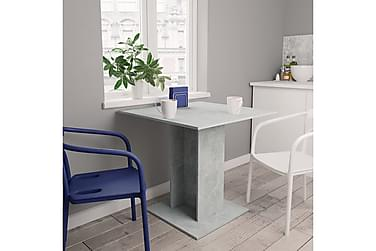 Matbord betonggrå 80x80x75 cm spånskiva