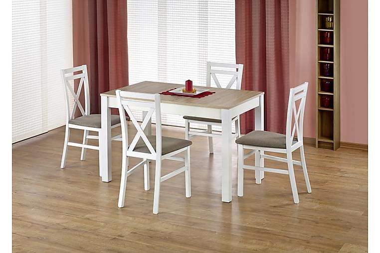 Matbord Billan Förlängningsbart 118x75 cm - Vit|Ek - Möbler - Bord - Matbord & köksbord