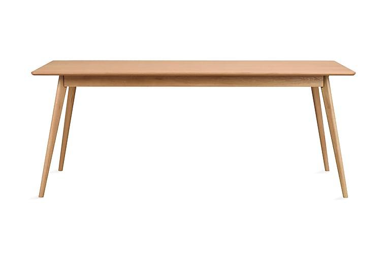 Matbord Cerovo Förlängningsbart 190 cm - Lackad Ek - Möbler - Bord - Matbord & köksbord