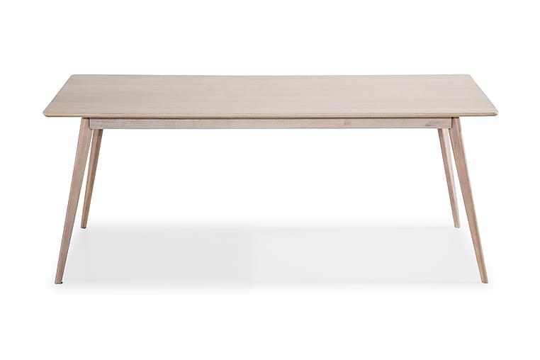 Matbord Cerovo Förlängningsbart 190 cm - Vitpigmenterad Ek - Möbler - Bord - Matbord & köksbord
