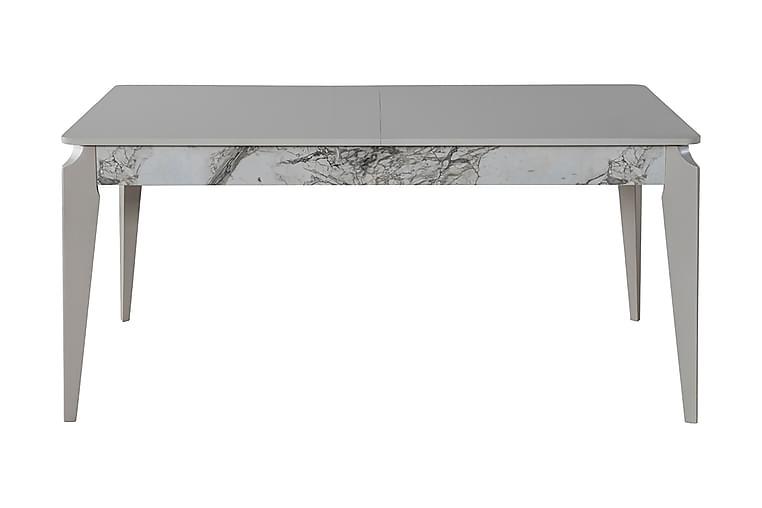 Matbord Cinarli Förlängningsbart 164 cm - Vit/Grå - Möbler - Bord - Matbord & köksbord
