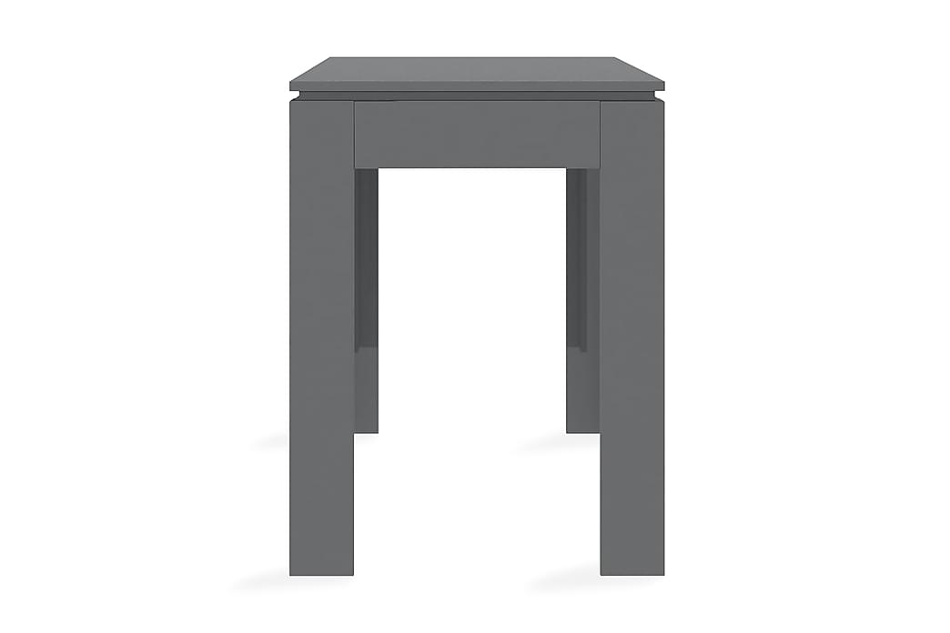 Matbord grå högglans 120x60x76 cm spånskiva - Grå - Möbler - Bord - Matbord & köksbord