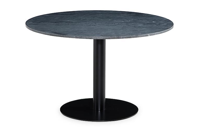 Matbord Justine 120 cm Runt Marmor - Grå Svart - Möbler - Bord - Matbord & köksbord