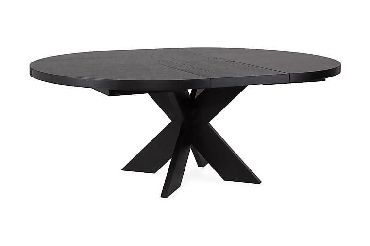 Matbord Malte Förlängningsbart 138 cm Runt - Svart - Möbler - Bord - Matbord & köksbord