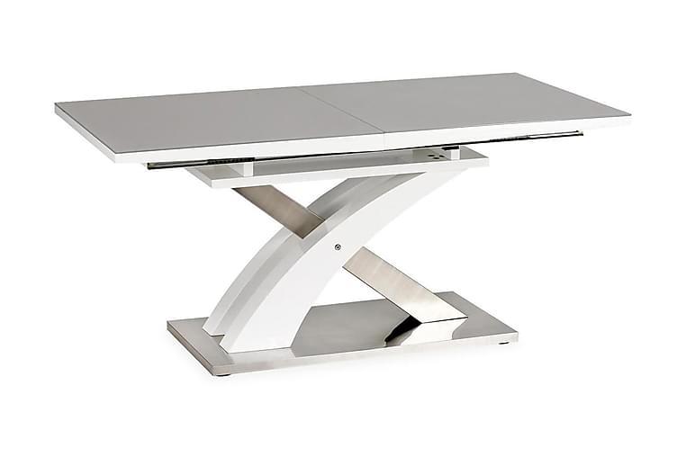 Matbord Marcil Förlängningsbart 160 cm - Grå|Vit - Möbler - Bord - Matbord & köksbord