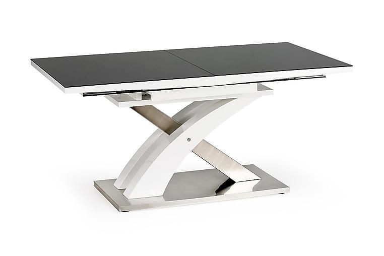 Matbord Marcil Förlängningsbart 160 cm - Svart|Vit - Möbler - Bord - Matbord & köksbord