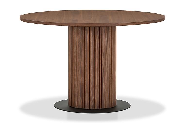 Matbord Neandir 120 cm Massiv Valnöt Runt - Brun - Möbler - Bord - Matbord & köksbord