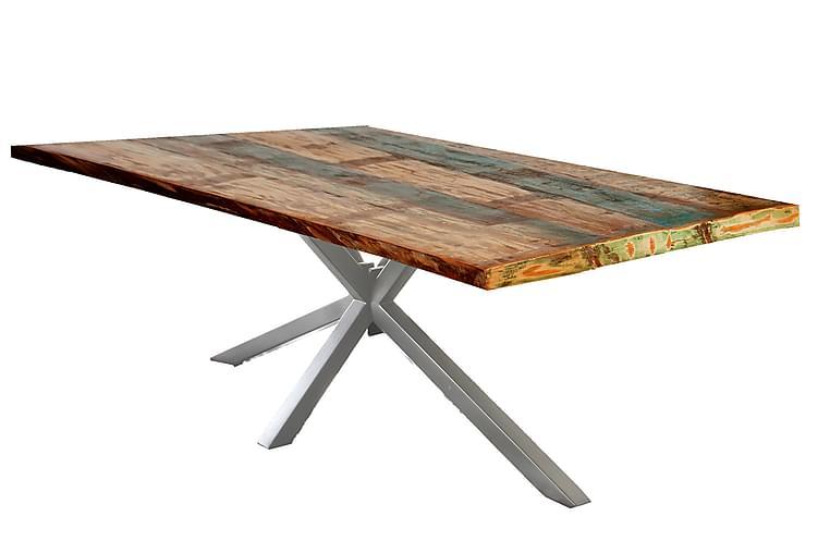 Matbord Raital 160x85 cm - Återvunnet Trä/Flerfärgad/Silver - Möbler - Bord - Matbord & köksbord