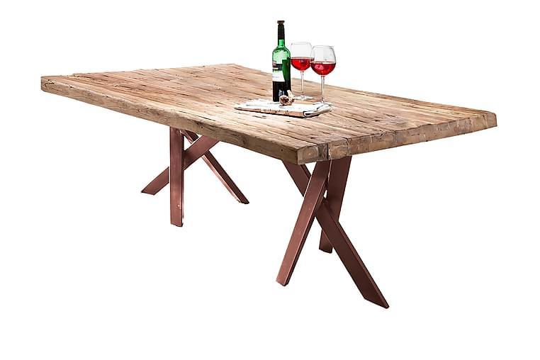 Matbord Raital 180x100 cm - Återvunnen Teak/Brun - Möbler - Bord - Matbord & köksbord