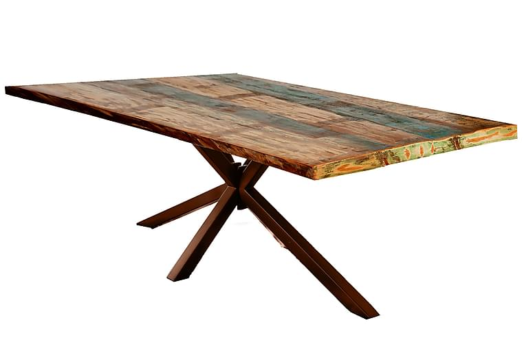 Matbord Raital 200x100 cm - Återvunnet Trä/Flerfärgad/Brun - Möbler - Bord - Matbord & köksbord