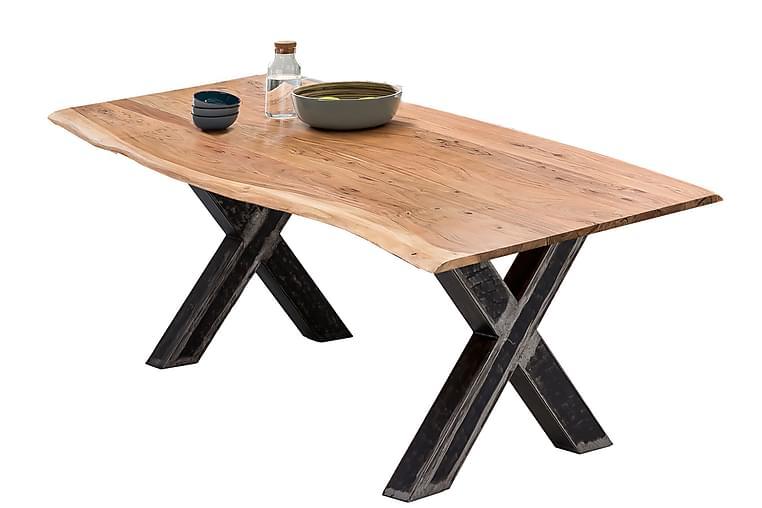 Matbord Raital 200x100 cm - Akacia/Silver - Möbler - Bord - Matbord & köksbord