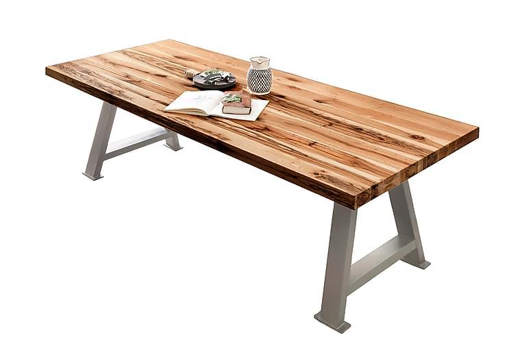 Matbord Raital 200x100 cm - Ek/Silver - Möbler - Bord - Matbord & köksbord