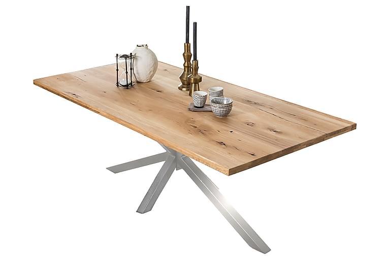 Matbord Raital 220 cm - Ek/Silver - Möbler - Bord - Matbord & köksbord
