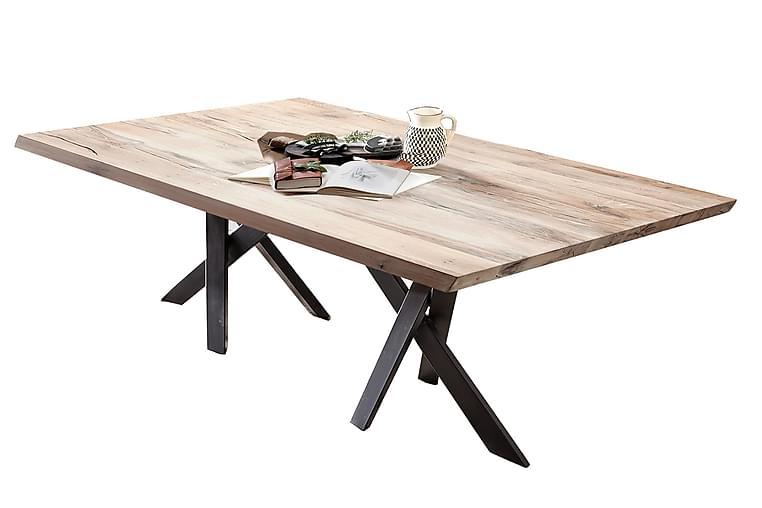 Matbord Raital 220 cm - Vit/Svart - Möbler - Bord - Matbord & köksbord