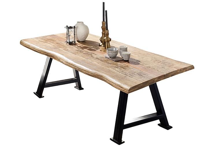 Matbord Raital 240 cm - Mango/Natur/Svart - Möbler - Bord - Matbord & köksbord