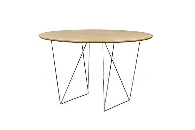 Matbord Row 120 cm - Trä Natur - Möbler - Bord - Matbord & köksbord