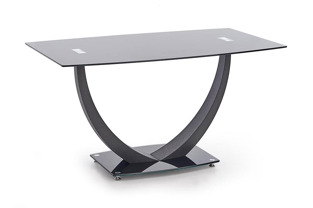 Matbord Salmone 140 cm Glas - Svart - Möbler - Bord - Matbord & köksbord