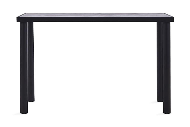 Matbord svart och betonggrå 120x60x75 cm MDF - Svart - Möbler - Bord - Matbord & köksbord