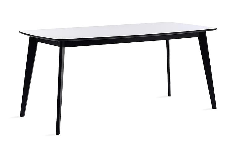 Matbord Svene Förlängningsbart 150 cm - Vit Svart - Möbler - Bord - Matbord & köksbord