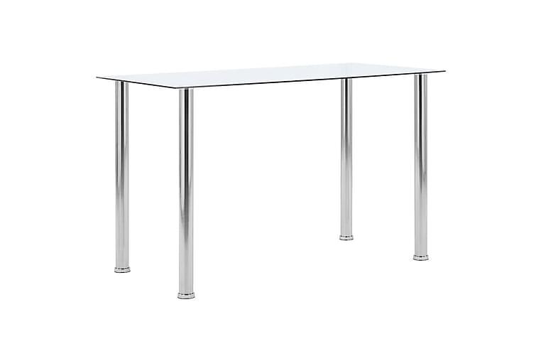 Matbord transparent 120x60x75 cm härdat glas - Transparent - Möbler - Bord - Matbord & köksbord