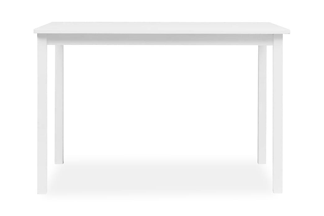 Matbord vit 114x71x75 cm massivt gummiträ - Vit - Möbler - Bord - Matbord & köksbord