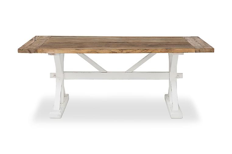 Matbord Yorkshire Förlängningsbart 200 cm - Vintage Natur|Vit - Möbler - Bord - Matbord & köksbord