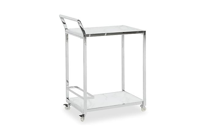 Serveringsvagn Valeria 65 cm - Marmorglas|Krom - Möbler - Bord - Rullbord & serveringsbord