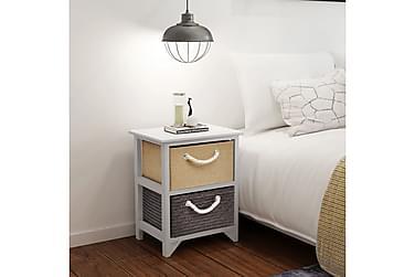 Inocenta Sängbord 2 Lådor 35x27 cm