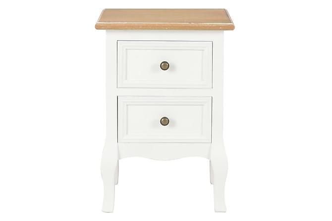 Nattduksbord 2 st vit 35x30x49 cm MDF - Vit - Möbler - Bord - Sängbord & nattduksbord