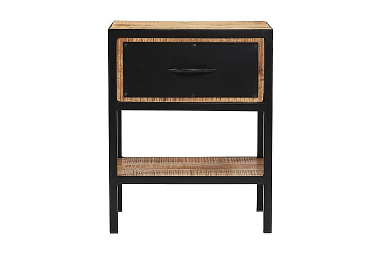 Nattduksbord massivt mangoträ 40x30x50 cm - Brun - Möbler - Bord - Sängbord & nattduksbord