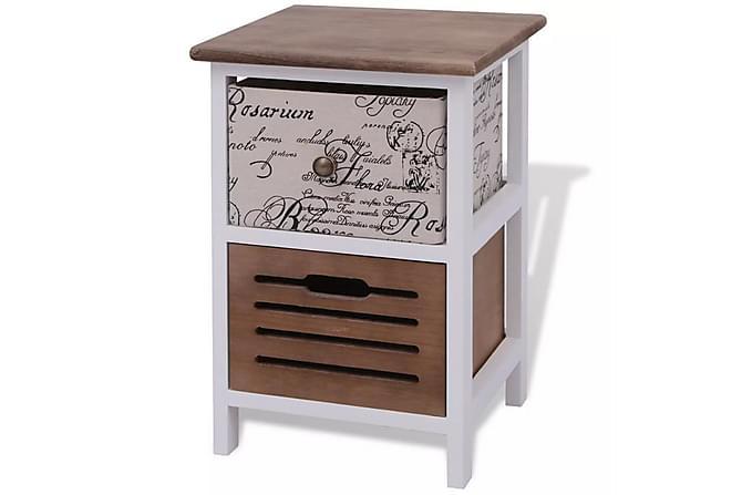 Nattduksbord trä - Brun|Vit - Möbler - Bord - Sängbord & nattduksbord