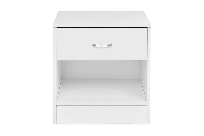 Sängbord 2 st med låda vit - Vit - Möbler - Bord - Sängbord & nattduksbord