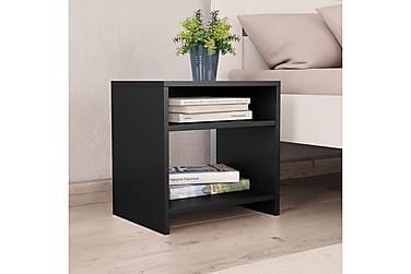 Sängbord 2 st svart 40x30x40 cm spånskiva