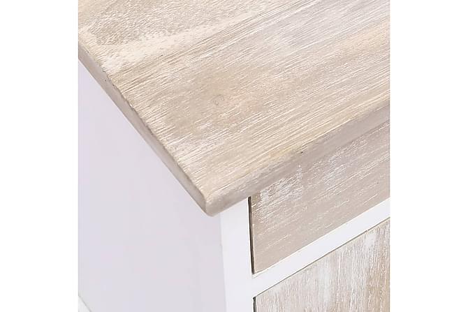 Sängbord 38x28x45 cm kejsarträ - Vit - Möbler - Bord - Sängbord & nattduksbord