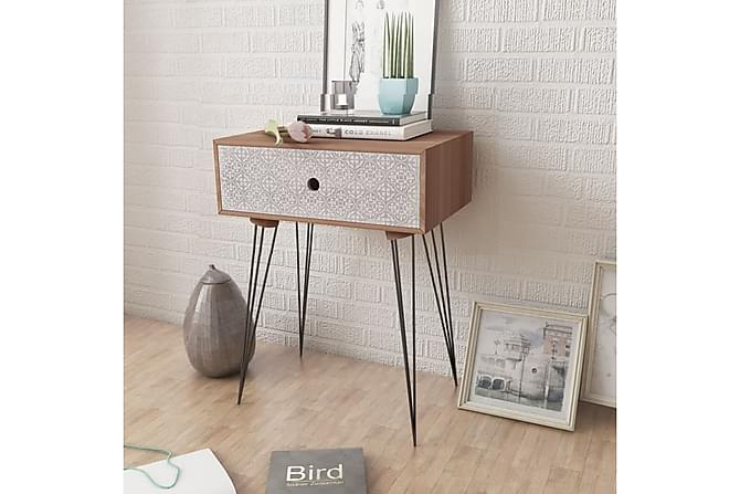 Sängbord med låda 2 st brun - Brun - Möbler - Bord - Sängbord & nattduksbord